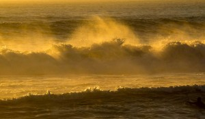 93. Heavy seas at dusk, Imperial Beach, CA-L