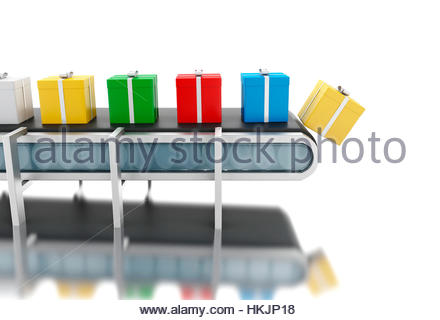 3d-renderer-image-conveyer-belt-with-gift-boxes-isolated-white-background-hkjp18